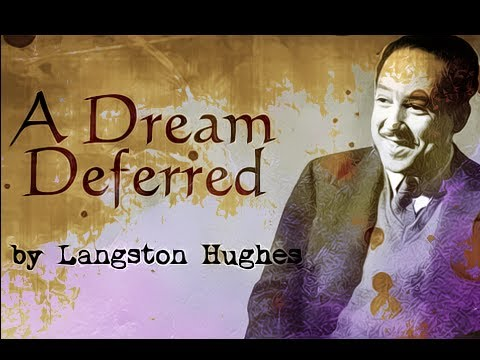 a dream deferred by langston hughes poetry reading