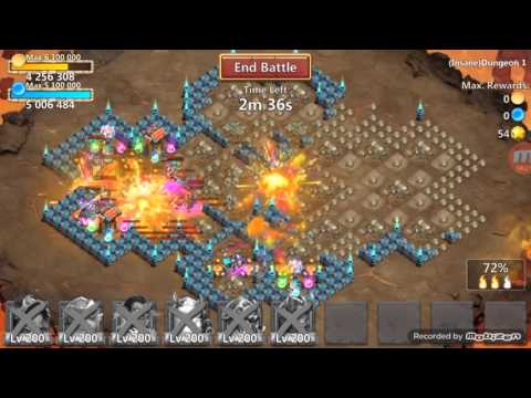 Castle Clash Insane Dungeons 1 Walk Through