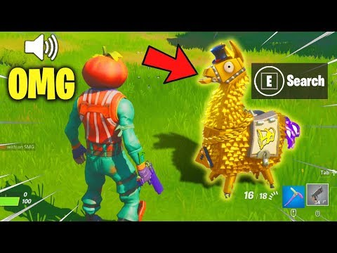 I Pretended Fortnite Added a GOLD LLAMA... everyone believed me