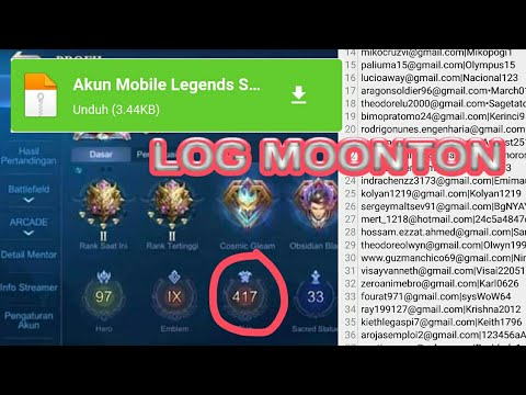 Akun Mobile Legends Gratis Terbaru 2020 Log Moonton Youtube