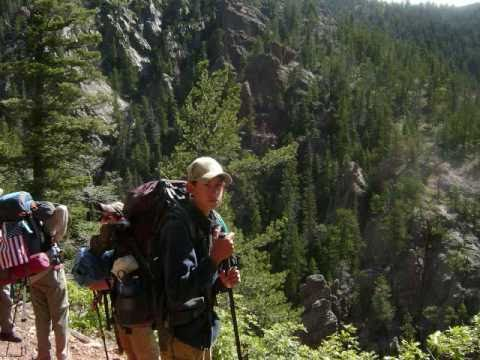 Hiking at Philmont Scout Ranch