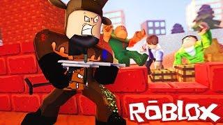 PAINTBALL MINIGUN WAR IN ROBLOX! (Roblox Paintball Battle)