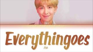 RM (BTS) - 'everythingoes (지나가)' (with NELL) LYRICS (Eng/Rom/Han/가사)