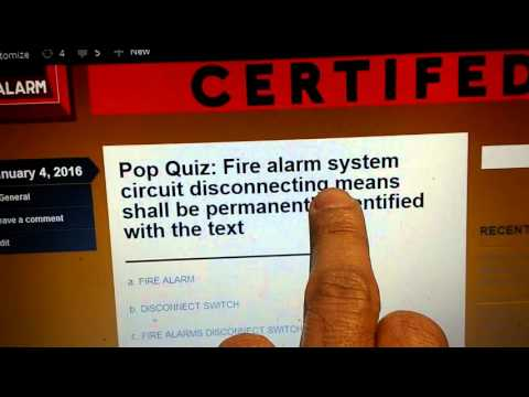 NICET Fire Alarms Level 1 Pop Quiz Answer