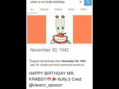 MR Krabs BIRTHDAY!?!?!?!!?