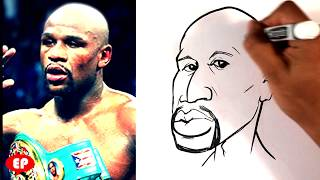 How to Draw a Caricature - Floyd Mayweather - Easy Pictures to Draw