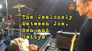 The Jealously in between Joe, Ben and Gwilym Lee!