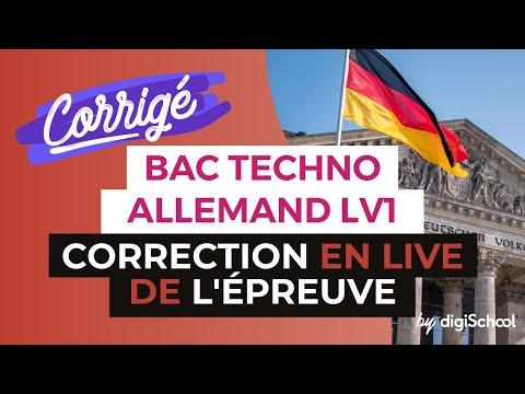 Bac 2017 - Correction en LIVE de l'épreuve d'ALLEMAND LV1 (Séries Techno)