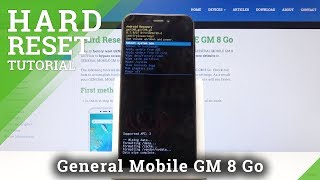 HARD RESET GENERAL MOBILE GM 8 Go - Remove Screen Lock