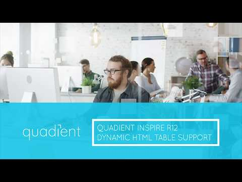 Inspire R12: Dynamic HTML Table Support