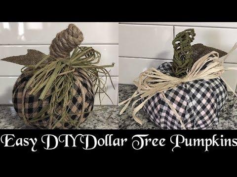 Dollar Tree Fabric Pumpkins, DIY Facebook Live Replay