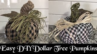 Dollar Tree Fabric Pumpkins, DIY Facebook Live Replay