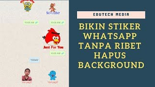 Download Video Cara Bikin Stiker WhatsApp Tanpa Ribet Hapus Background                  #whatsapp MP3 3GP MP4
