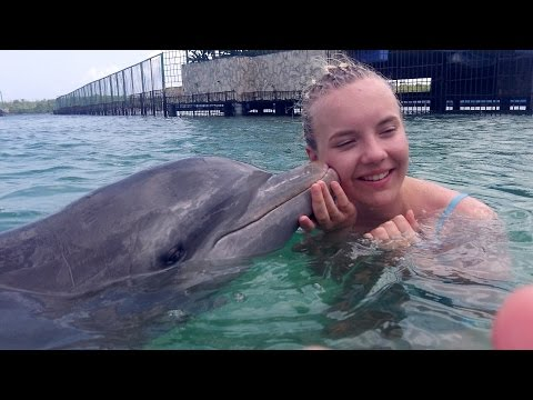 Swimming with the Dolphins, Dolphinarium,Holguin, Cuba 2015