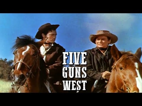 Five Guns West | FREE WESTERN MOVIE | Dorothy Malone | English | Full Cowboy Film | Full Movie