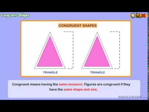 Congruent Shapes Math Lesson For 2nd Graders Youtube