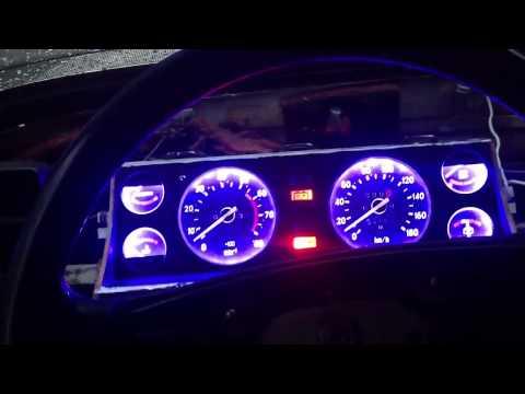 Видеозапись Подсветка щитка приборов ВАЗ 2107