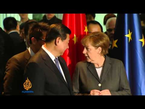 China's Xi meets with Germany's Merkel, From YouTubeVideos