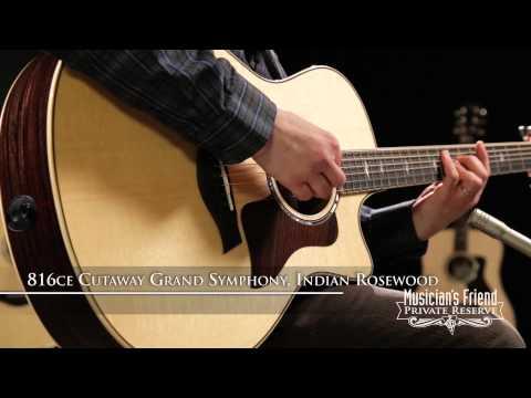 Taylor 816ce Brazilian Rosewood Cutaway Grand Symphony Acoustic-Electric Guitar Natural
