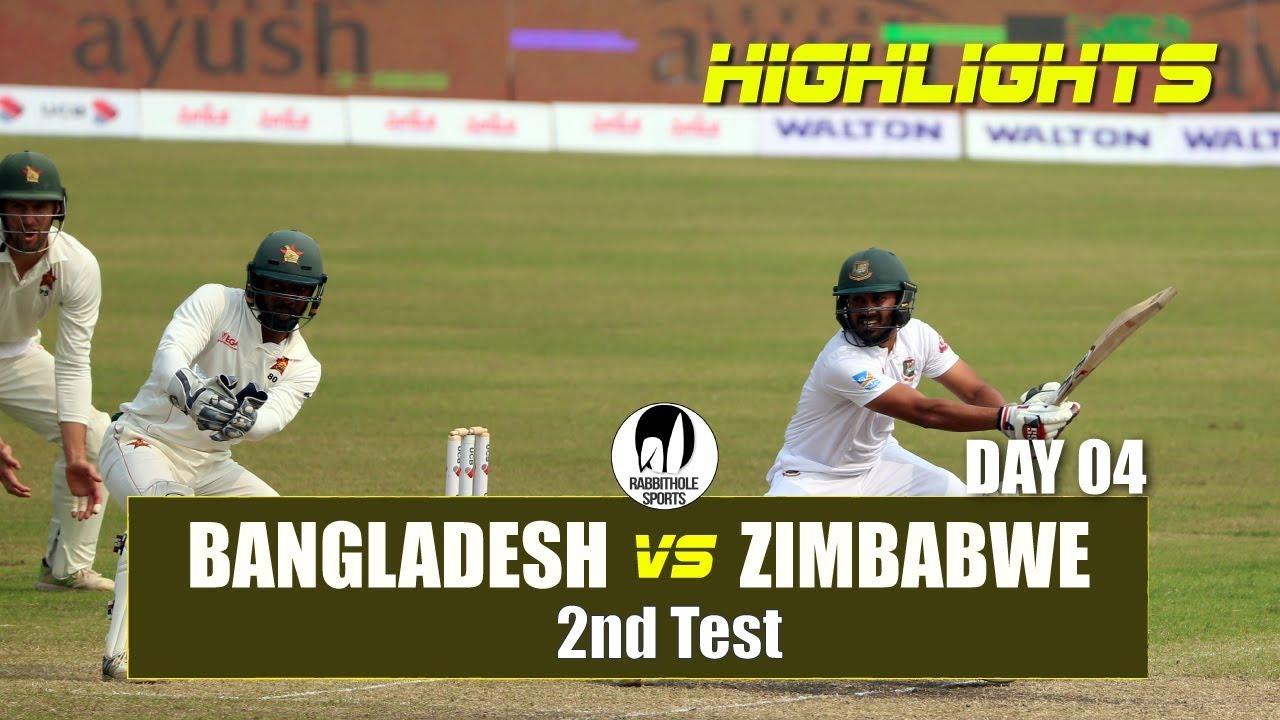 Bangladesh vs Zimbabwe Highlights || 2nd Test || Day 4 || Zimbabwe tour of Bangladesh 2018