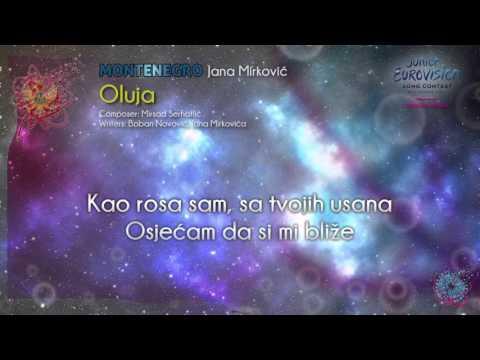 """Jana Mirković - """"Oluja"""" (Montenegro) - [Karaoke version]"""