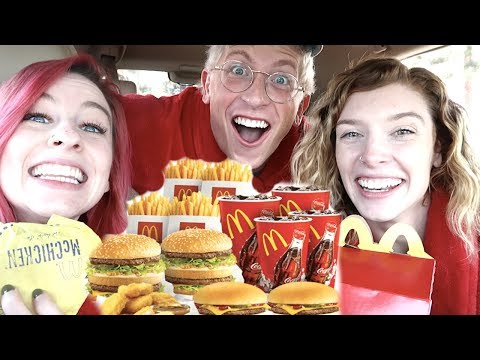 EATING EVERY DOLLAR MENU ITEM!! *MUKBANG W/ MATT KING*