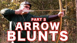 Longbow Arrow Blunts on a Pole Lathe (Cock Ups at the End) Part 3