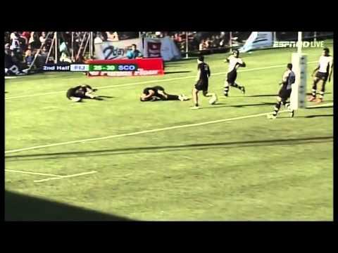 Tim Visser 2 tries on Scotland debut