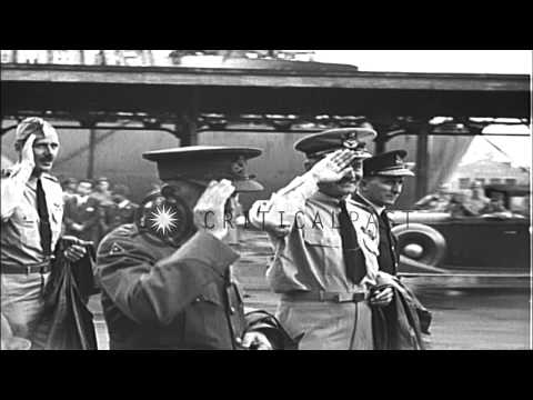 Allied and Japanese representatives in Yokohama, Japan on United States Missouri ...HD Stock Footage