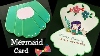 Mermaid Card/Mermaid Birthday Card/Mermaid Themed Card for Girl/ Birthday Card Ideas for Kids