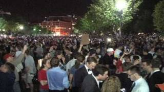 Video: Osama bin Laden is dead! White House Celebration May 1-2nd