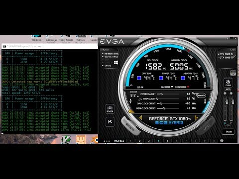 How To Overclock GPU For Mining - Nvidia EVGA