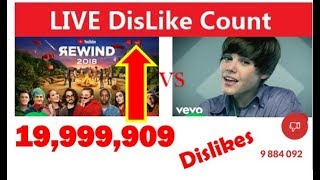 YOUTUBE REWIND 2018 VS JUSTIN BIEBER BABY LIVE DISLIKE COUNT: IT'S HAPPENING!