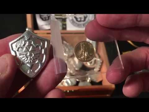 2017 GOLD , 1906 Silver Mexico coin/Pit Bullion 2 oz Poured  Silver Trade