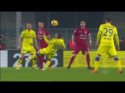 Il gol di Giaccherini - Chievo - Cagliari 2-1 - Giornata 25 - Serie A TIM 2017/18