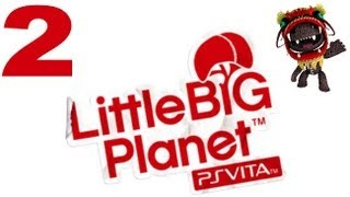 Lets Play Little Big Planet PS VITA - Part 2 - La Marionetta - Swing - Bop Acrobatics thumbnail