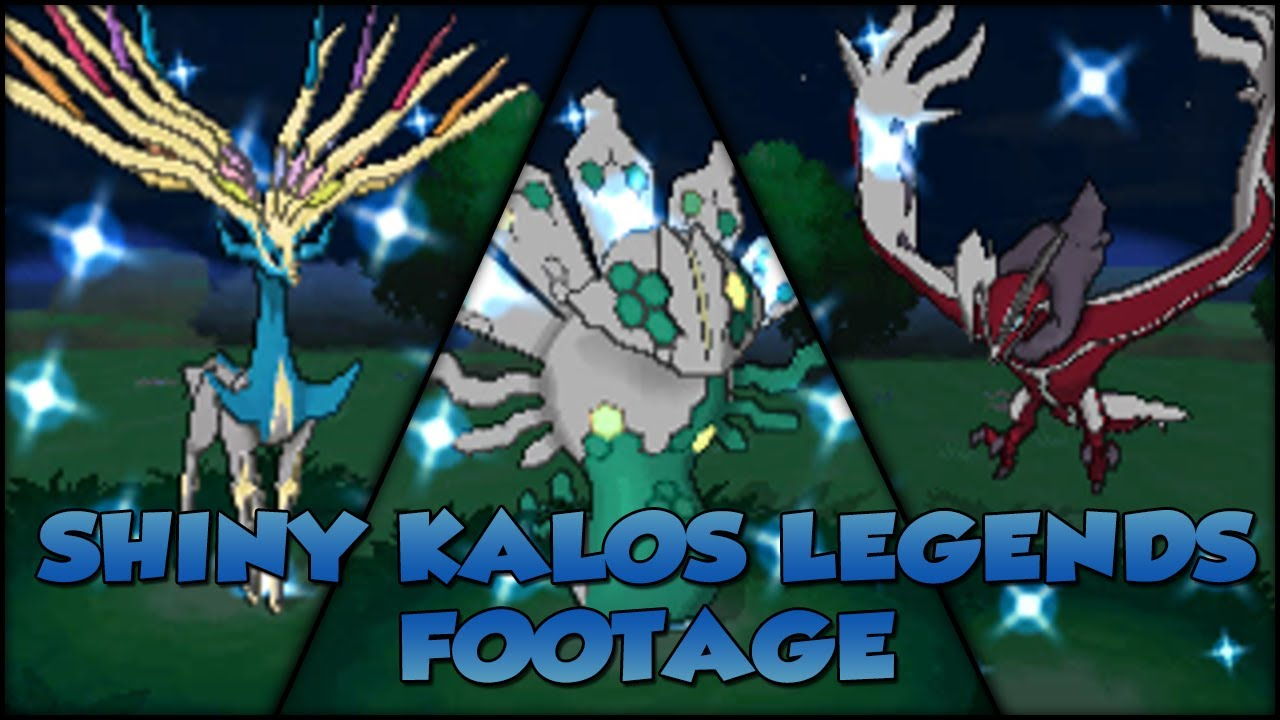 Pokémon X and Y | Shiny Kalos Legends Footage - YouTube