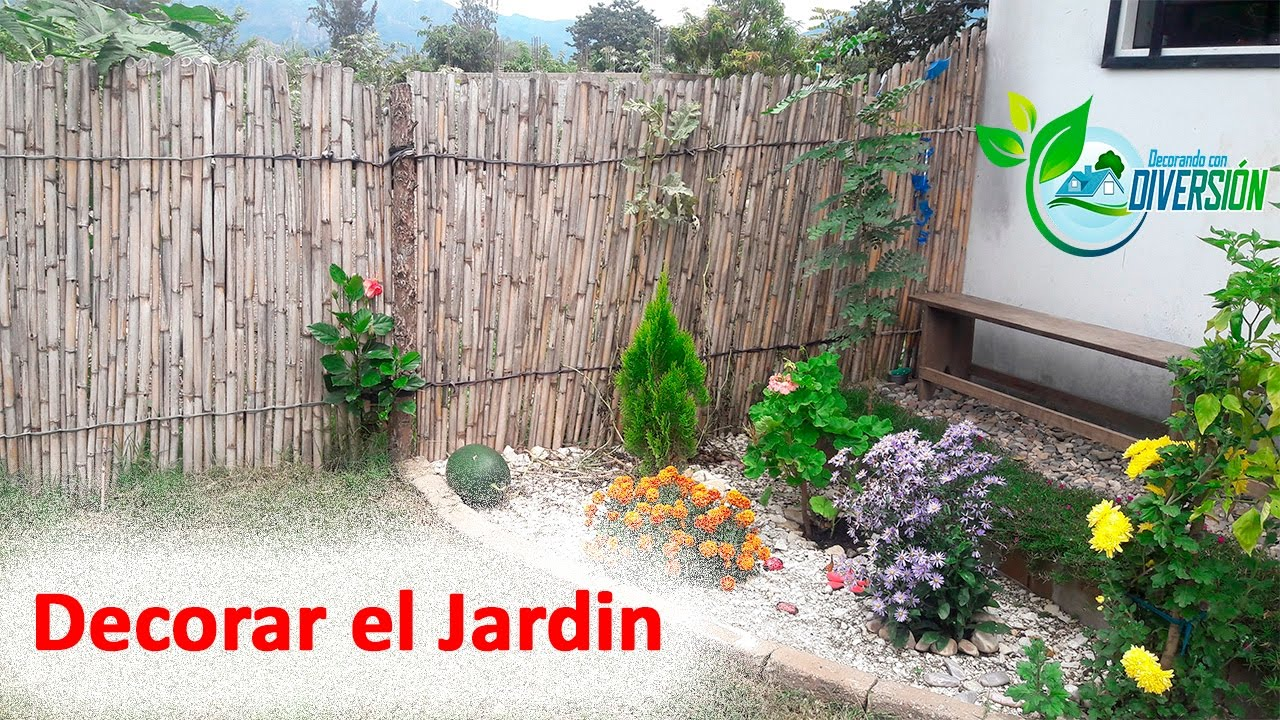 Ideas para decorar el jardin youtube for Como decorar un antejardin pequeno
