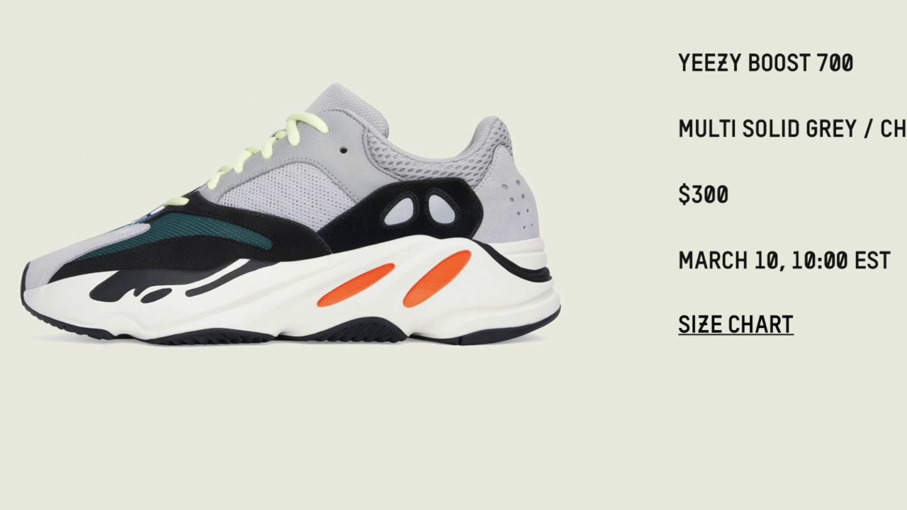 6c2e0962f The Adidas Yeezy Boost 700 Wave Runner Gets A Wide Release This Weekend