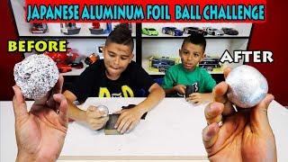 MAKING A MIRROR-POLISHED JAPANESE ALUMINUM FOIL BALL