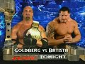Goldberg vs. Batista RAW 3rd 10th November 2003