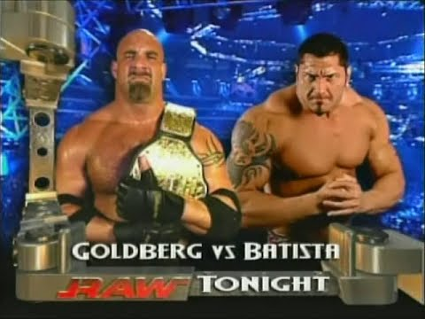 Goldberg vs. Batista [RAW - 3rd & 10th...
