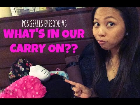 WHAT'S IN OUR CARRY ON? | OKINAWA PCS #3