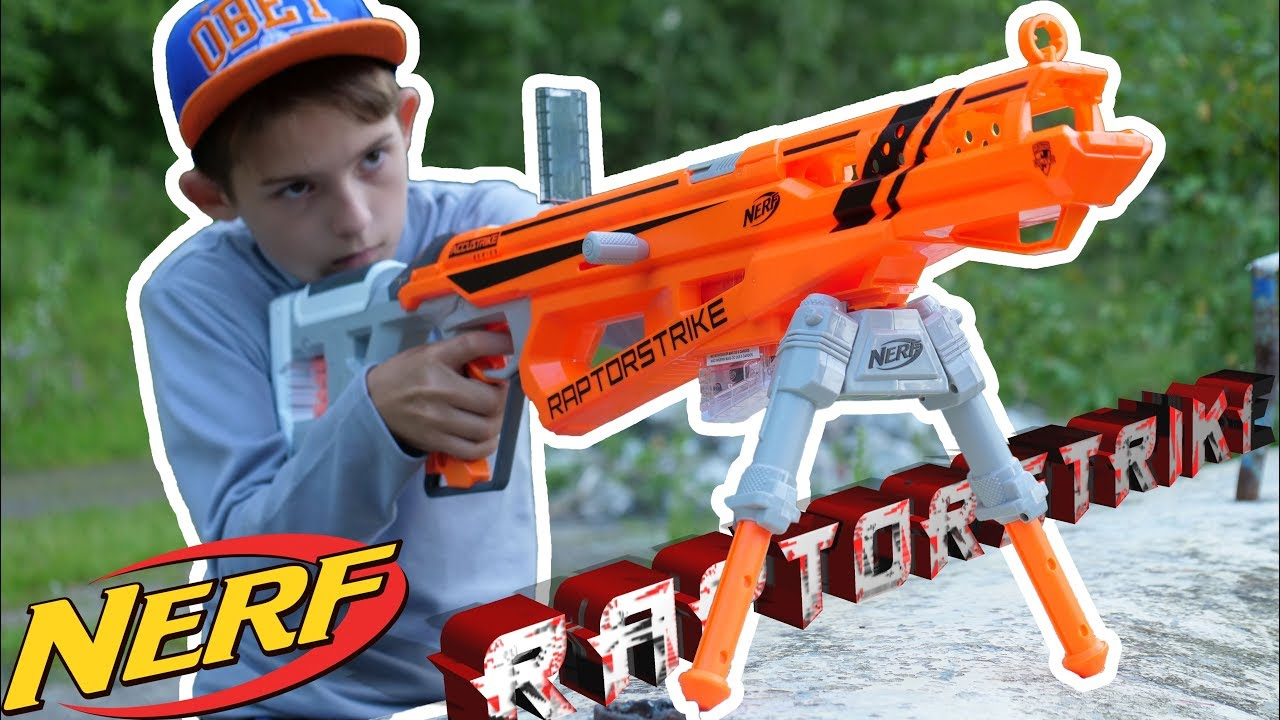 Распаковка и обзор Нёрф Аккустрайк Рапторстрайк // Unboxing and review Nerf Accustrike Raptorstrike
