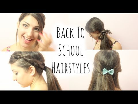 5 Fast HEATLESS Hairstyles for School! - YouTube