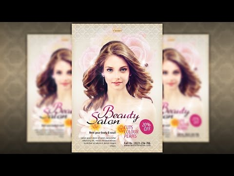 How To Create a Beauty Salon Promotional In Photoshop