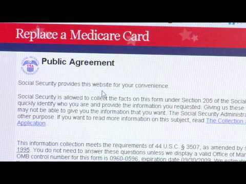 How to Get a Replacement Medicare Card - YouTube
