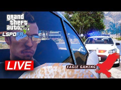 GTA V | LSPDFR Live! | Senora Freeway Patrol in NSW Highway Patrol Holden HSV R8