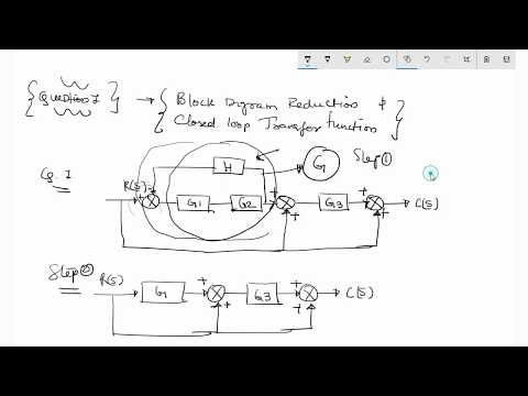Block Diagram Reduction to find closed loop transfer function for control system model