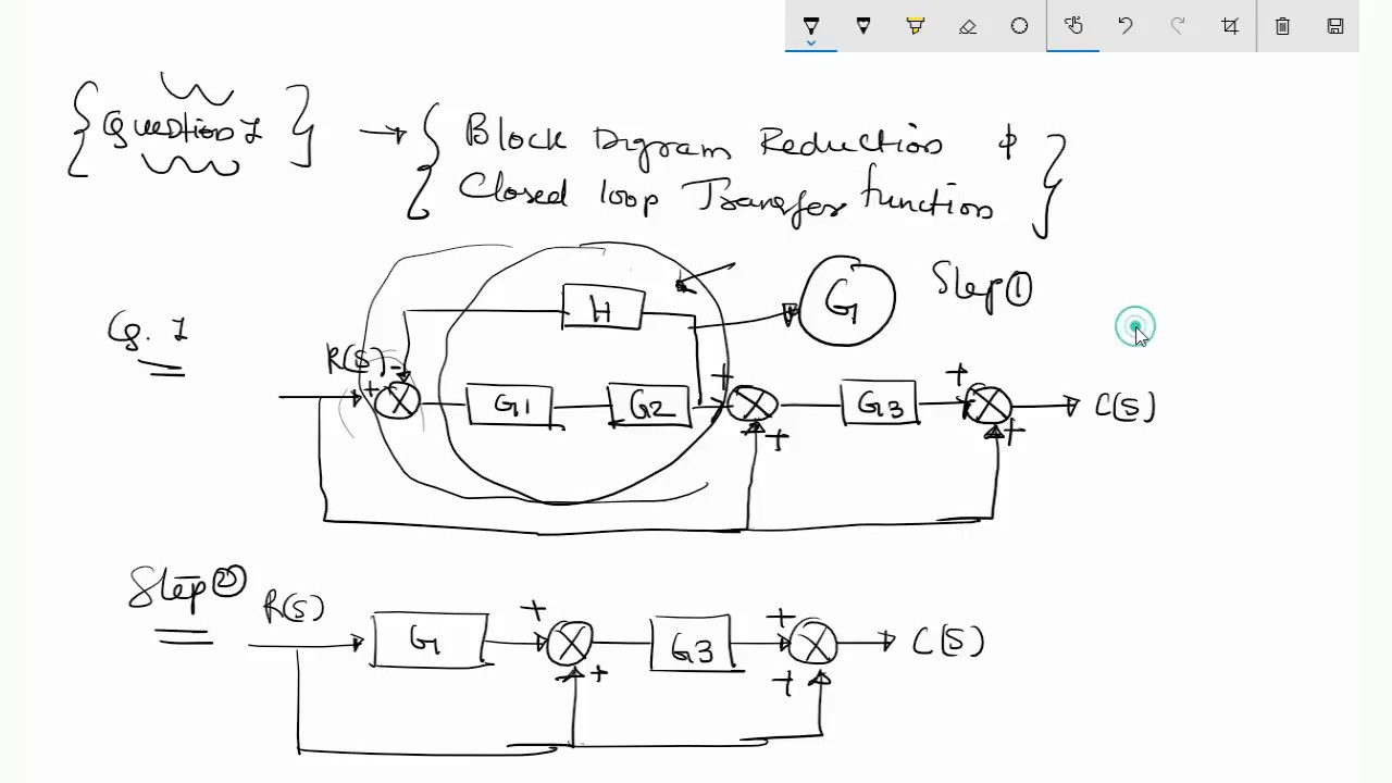 Block Diagram Reduction Youtube Wiring Library Of Diagrams In Control Systems To Find Closed Loop Transfer Function Forblock